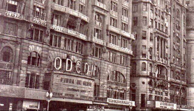 Fachada antiga do Odeon - Cinelândia - RJ