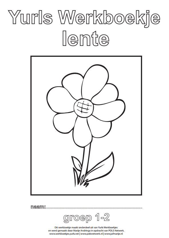 yurls werkboekje lente knutselen lente kleurplaten