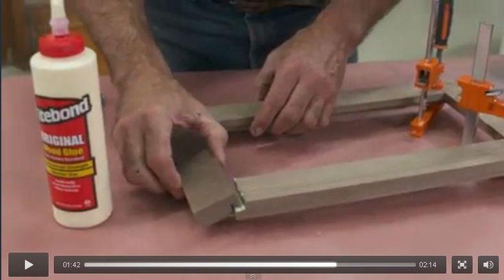 Hacer marcos sin sierra ingletadora, con la fresadora.                                                                                                                                                      Más