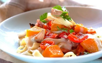 Creamy Pasta with Roast Vegetables