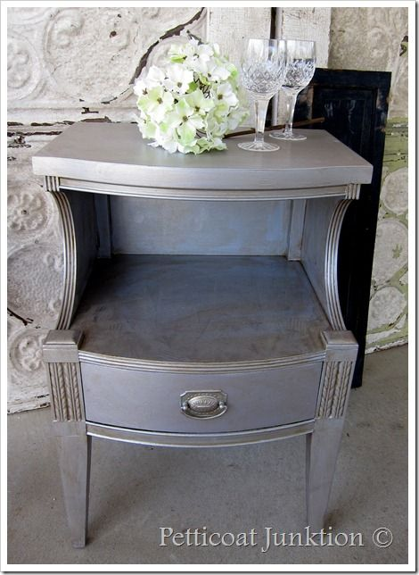 1000 Ideas About Silver Painted Furniture On Pinterest