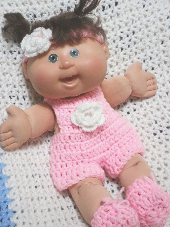 29 best crochet cabbage patch doll outfits images on pinterest inspiration clothes for 14 inch cabbage patch doll pink jumper shorts set on etsy dt1010fo