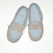 Обувь ручной работы. Ярмарка Мастеров - ручная работа Тапочки домашние на войлочной подошве, вязаные тапочки. Handmade.