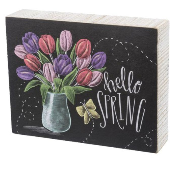 DIY craft ~~ paint block of wood and decoupage print on front