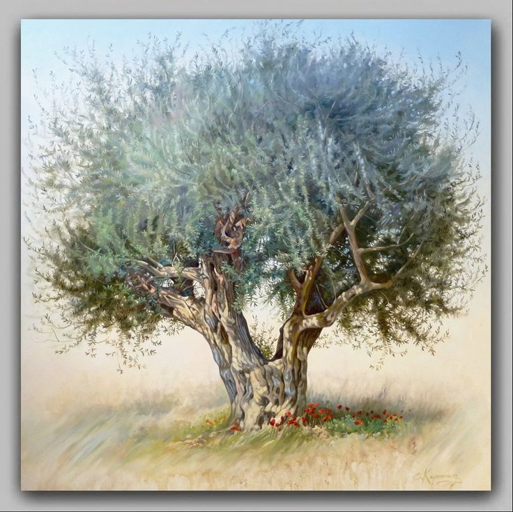 Landscape Olive Tree | Original Oil Painting | Classic Painting on Canvas | Nature Painting | Hand Painted | Realism Art by OliviaArtGallery on Etsy