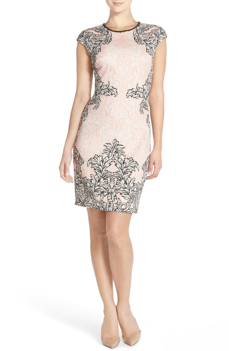 Sheath Wedding Dresses London : London print scuba sheath dress dresses and lace