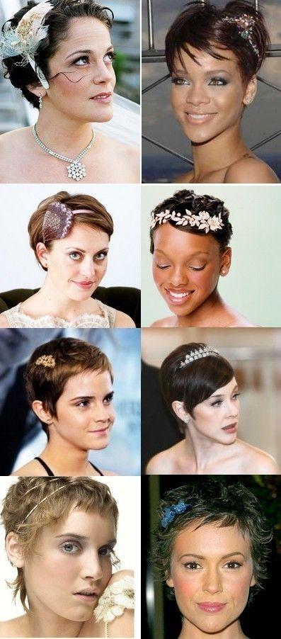 Perfect wedding short hair