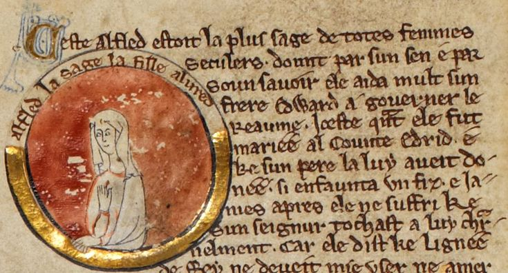 ÆLFFLAED was the second QUEEN CONSORT OF EDWARD THE ELDER from around 899-919. She bore him many children. We have evidence that she witnessed at least one charter in 901, and commissioned pieces of art for the church. HOUSE OF WESSEX.