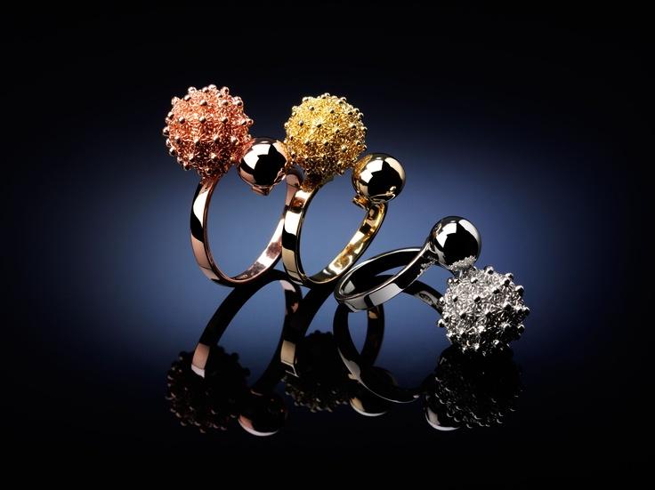 Doppia Sfera rings. Beautiful filigree rings. Reinvented.