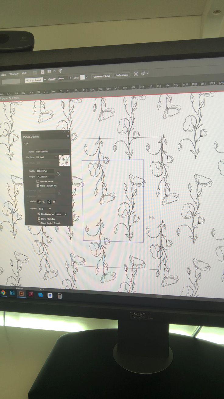 Designing a seamless pattern in Adobe Illustrator