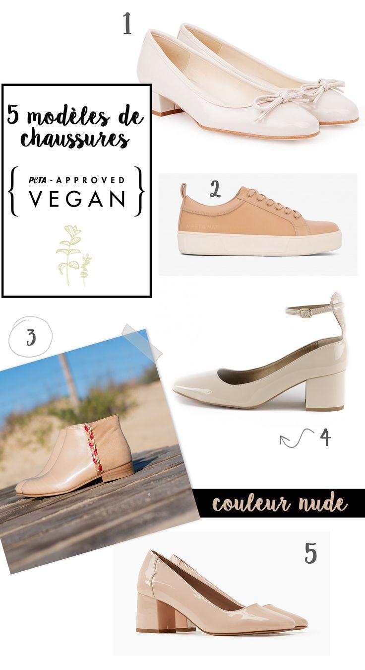 Sélection shopping éthique : 5 modèles de chaussures vegan nude