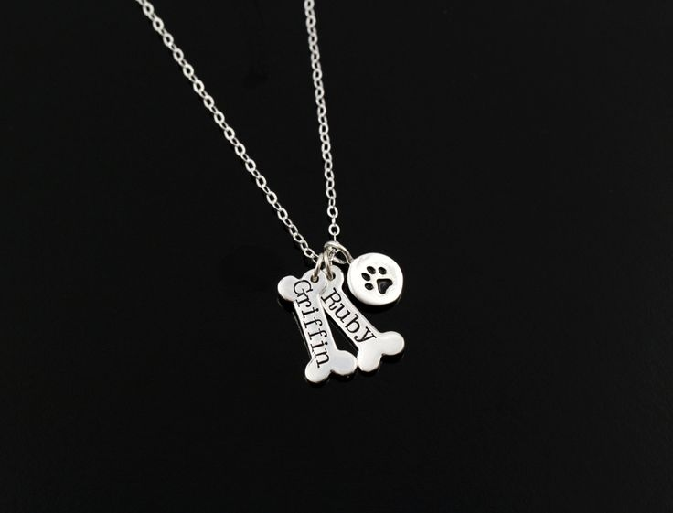 Dog Paw Necklace Pet Jewelry Personalized by ACharmedImpression, $42.00