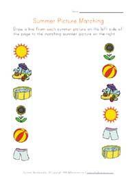 summer worksheets for several different skills