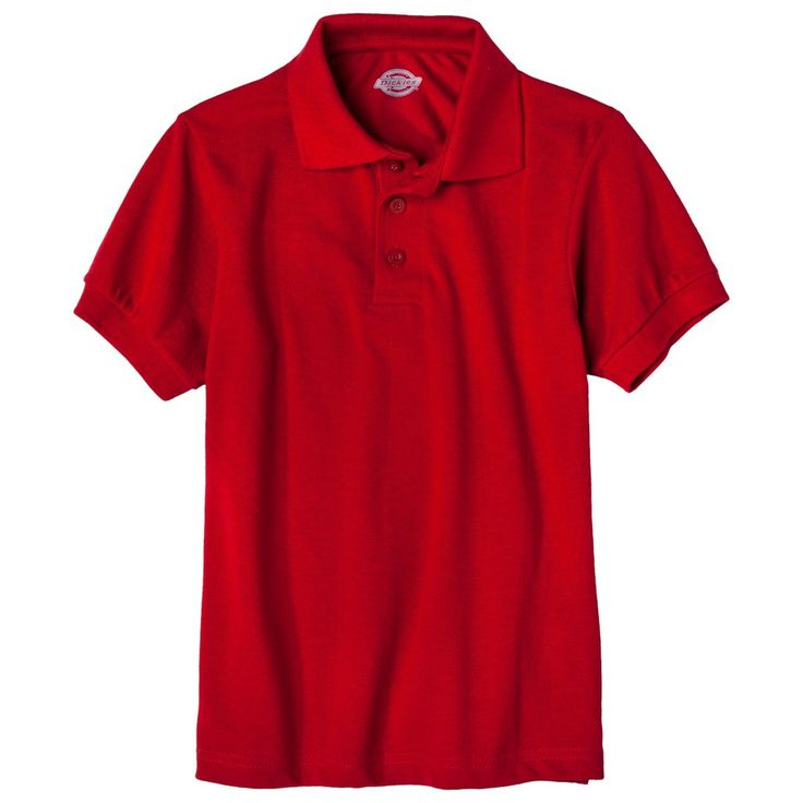 Dickies Big Boys' Pique Polo - Red S, Boy's, Size: Small