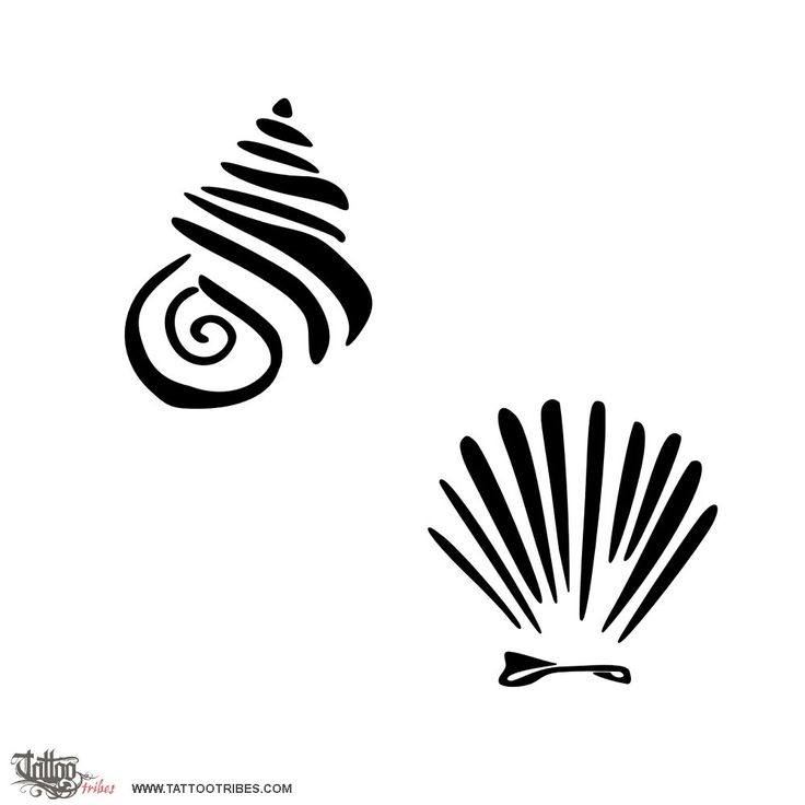 TATTOO TRIBES - Shape your dreams, Tattoos with meaning - shell, love, protection, safety, couple, spiral, twist, eternity, bond