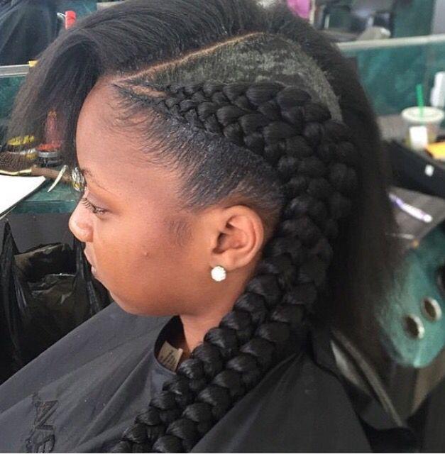 Double Cornrows Braid It Up Hair Styles Natural Hair