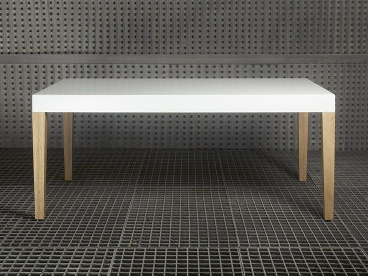 Lacquered solid wood table SAN by Branca-Lisboa | design Marco Sousa Santos