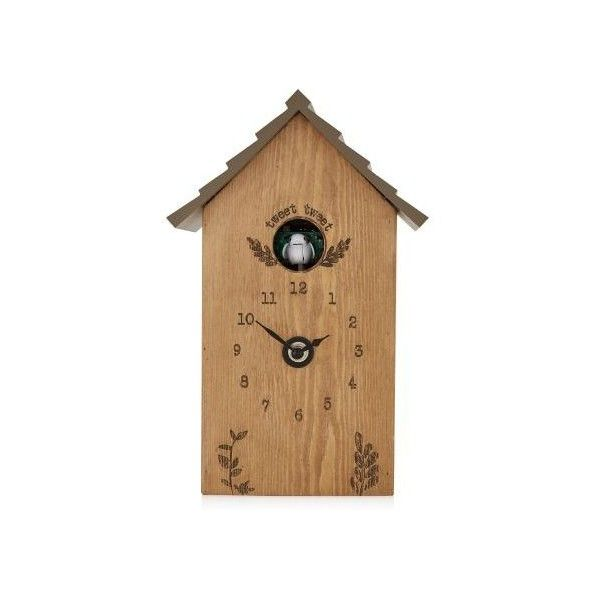 Rustic Wooden Cuckoo Clock ($62) ❤ liked on Polyvore featuring home, home decor, clocks, wooden clock, wooden home decor, wooden cuckoo clock, wood clock and wood cuckoo clock
