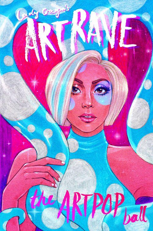 Lady Gaga ArtRave fanart by Helen Green