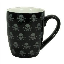 Ceramic Mugs Set Of 4 Black Skull Target Misc Stuff Coffee