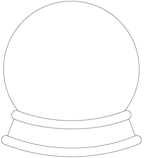Snow Globe Digis - Free Digital Stamps     Craft Projects ...