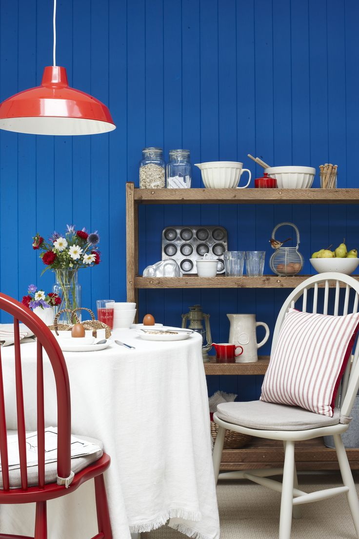 RED & BLUE KITCHEN  GOODHOMES MAGAZINE NOVEMBER 2011 STYLING EMMA CLAYTON PHOTOGRAPHY JOANNA HENDERSON
