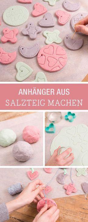Bunte Anhänger aus Salzteig selbermachen / christmas ornaments made of salt dou… – Madlen Kandler