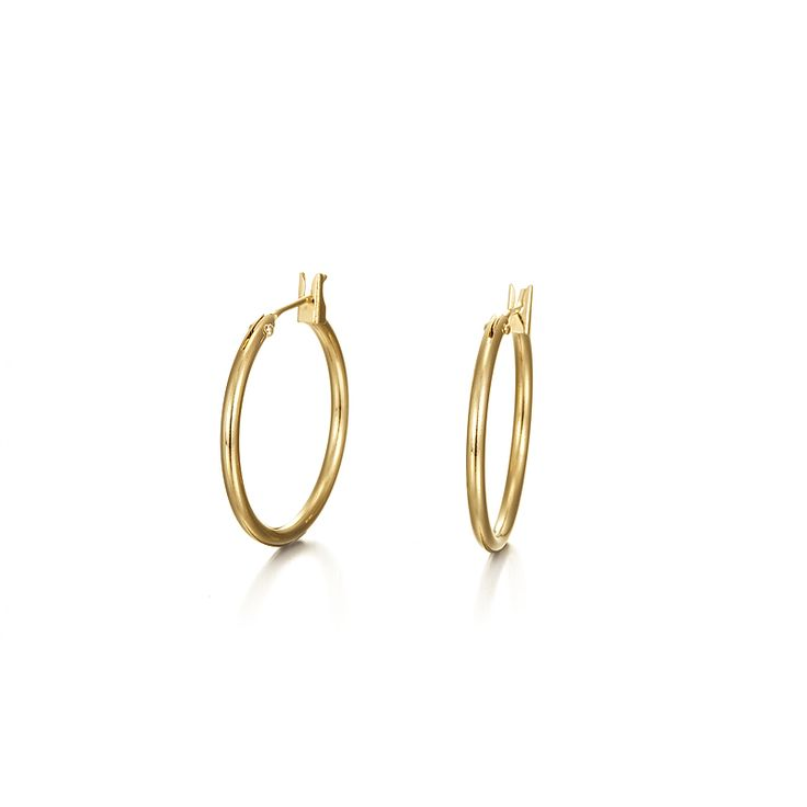 18ct Yellow Gold Layered Small Hoop Earring | Allure Gold