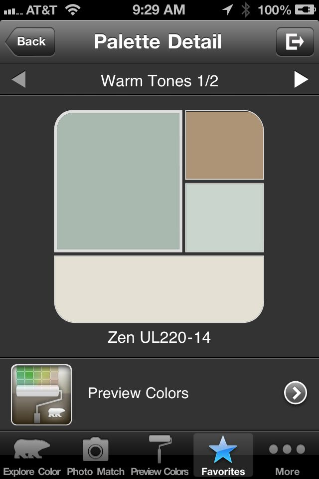zen by behr new palette from my office craft room