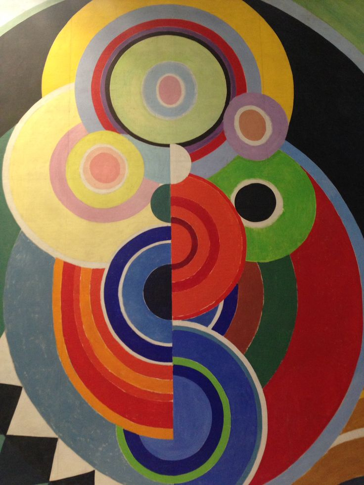Russian French Artist sonia Delaunay Oil on Canvas at the Musee D'Art Moderne de la Ville . Paris, ,France .A retrospective exhibit of the artist. Fall 2014 .Simply Fabulous!!