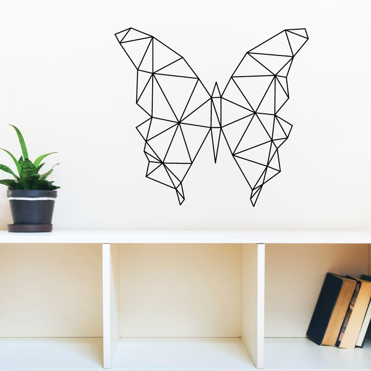 Geometric Butterfly Wall Decal – Red Panda Wall Stickers