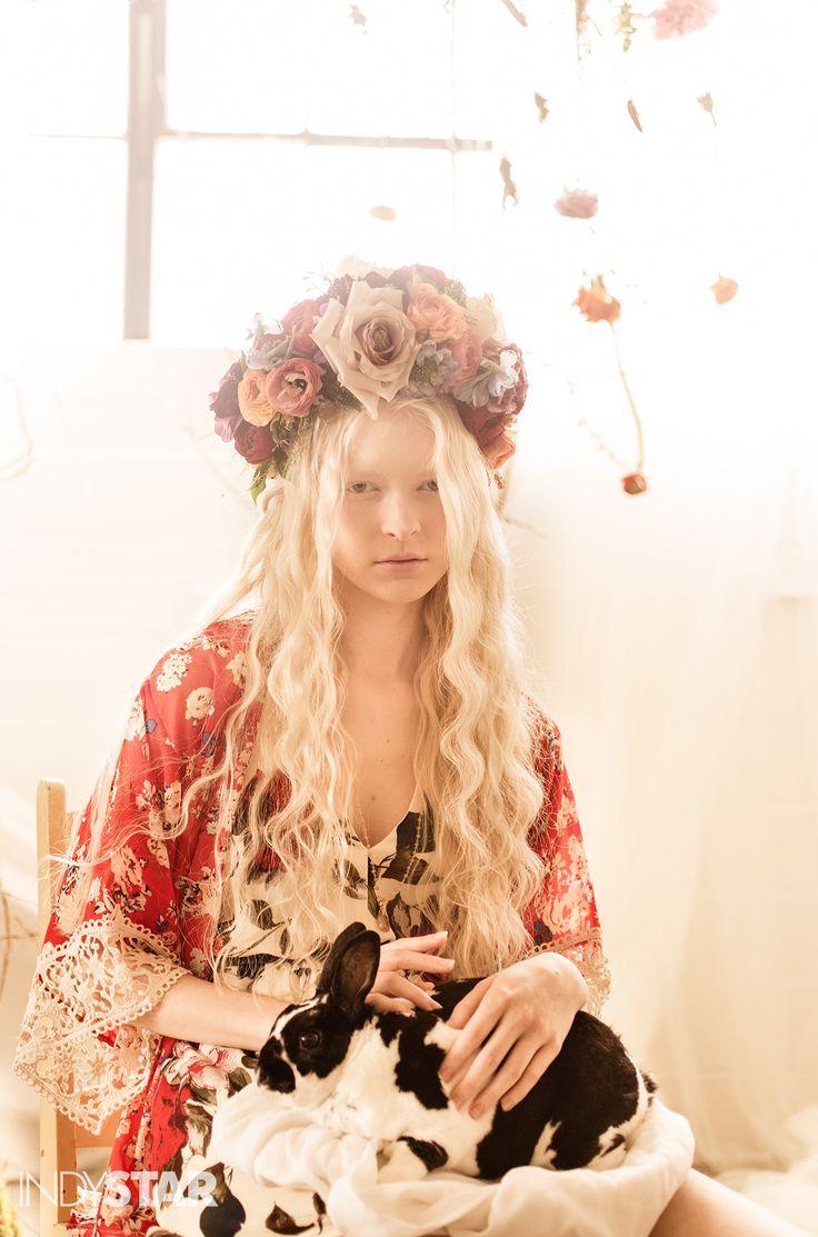 Floral Crown, bold floral pattern, spring, fashion, art