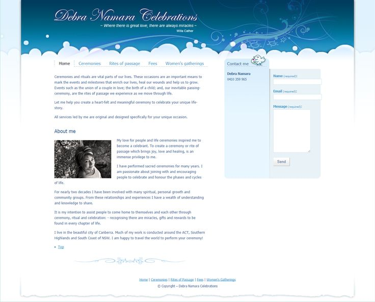 Debra Namara | from Elfshot Web Design Folio