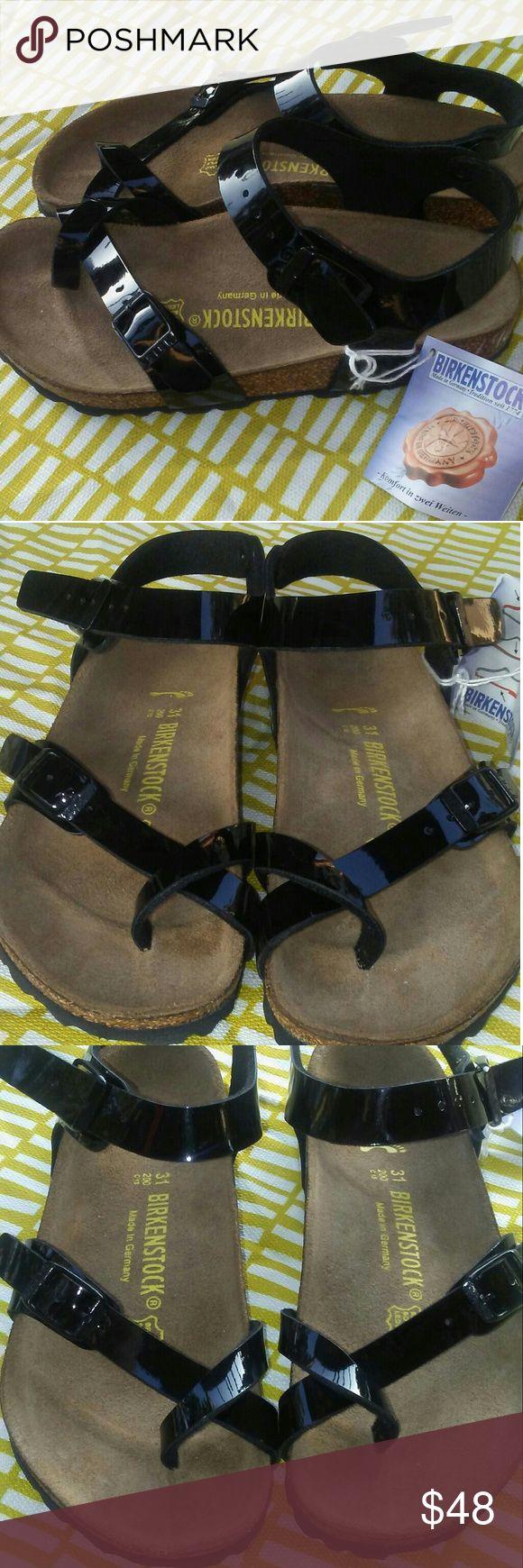 Birkenstocks Kids Black Crisscross Front Sandals BIRKENSTOCKS FOR THE LITTLE ONES!!  31 M EU / 13-13.5 N US Little Kid Size 31= Kids 13-13.5  Black  New never worn with tag Birkenstock Shoes Sandals & Flip Flops