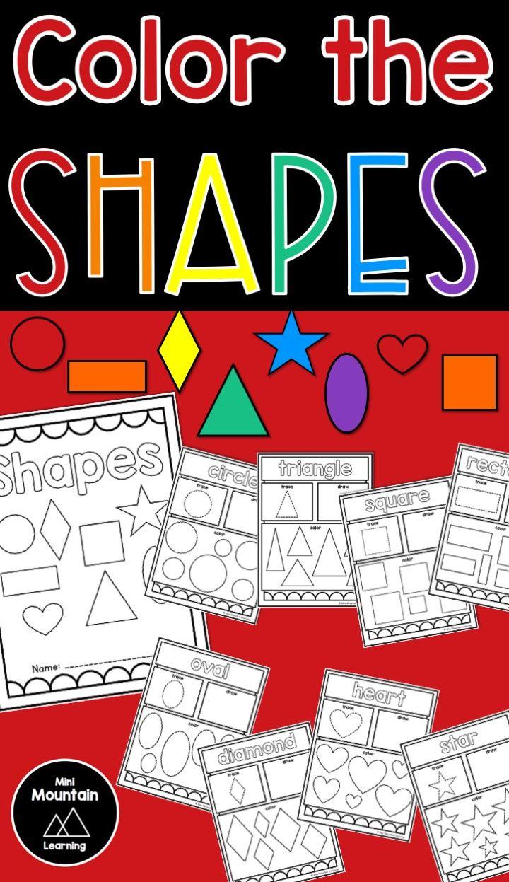 Shape practice | Shape coloring | Shape recognition | Drawing shapes