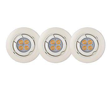 Luz encastrada de aluminio LED - blanco