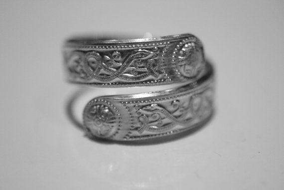 Irlanda Guerrero anillo Sterling plata anillo envolver ajustable céltico irlandés diseño impresionante opción de anillo de pulgar de regalo