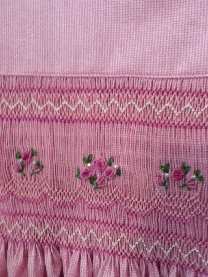 Closeup from Easter 2014.My Mother was an artist with needle and thread. She did beautiful smocking. Could sew anything. FP