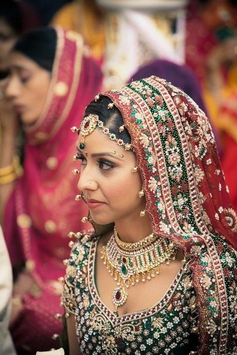 Punjabi Bride beautiful lehnga punjabi wedding
