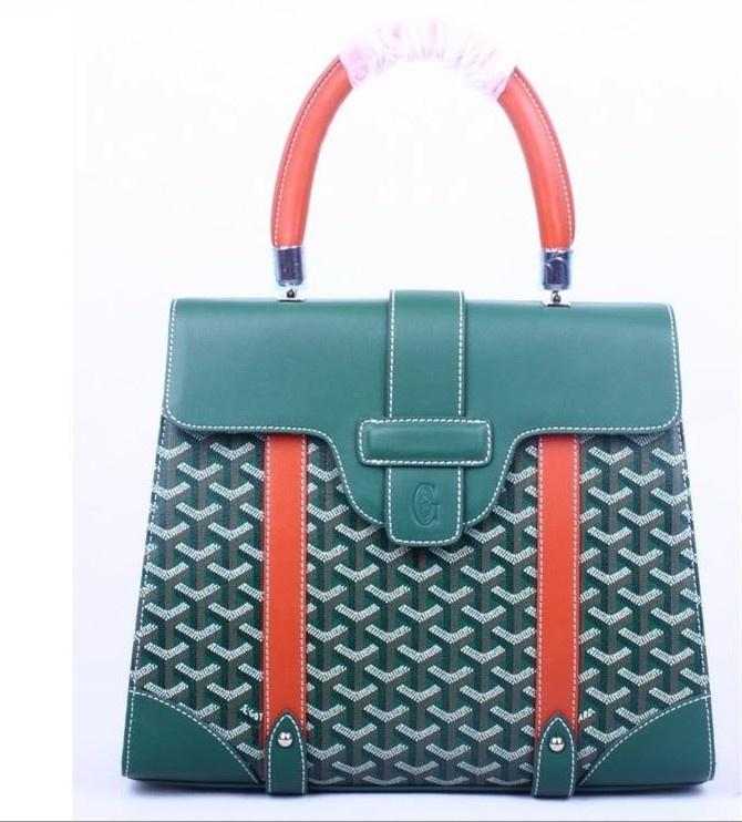 Amazing Goyard Tote Bags 8941 Green With Orange Cheap | Goyard Bags Price
