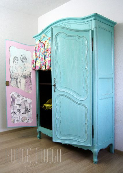 les 25 meilleures id es de la cat gorie armoires en ch ne peintes sur pinterest peinture de. Black Bedroom Furniture Sets. Home Design Ideas