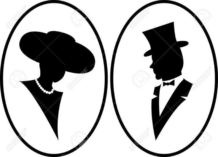sketch of vintage gentleman and woman - Google Search
