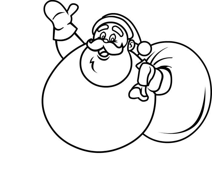 Draw Santa - How to Draw Santa Claus