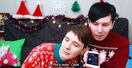 The greeting phil's mum gave him when they call her on DanAndPhilGAMES- WILL DAN AND PHIL BE MILLIONAIRES?!