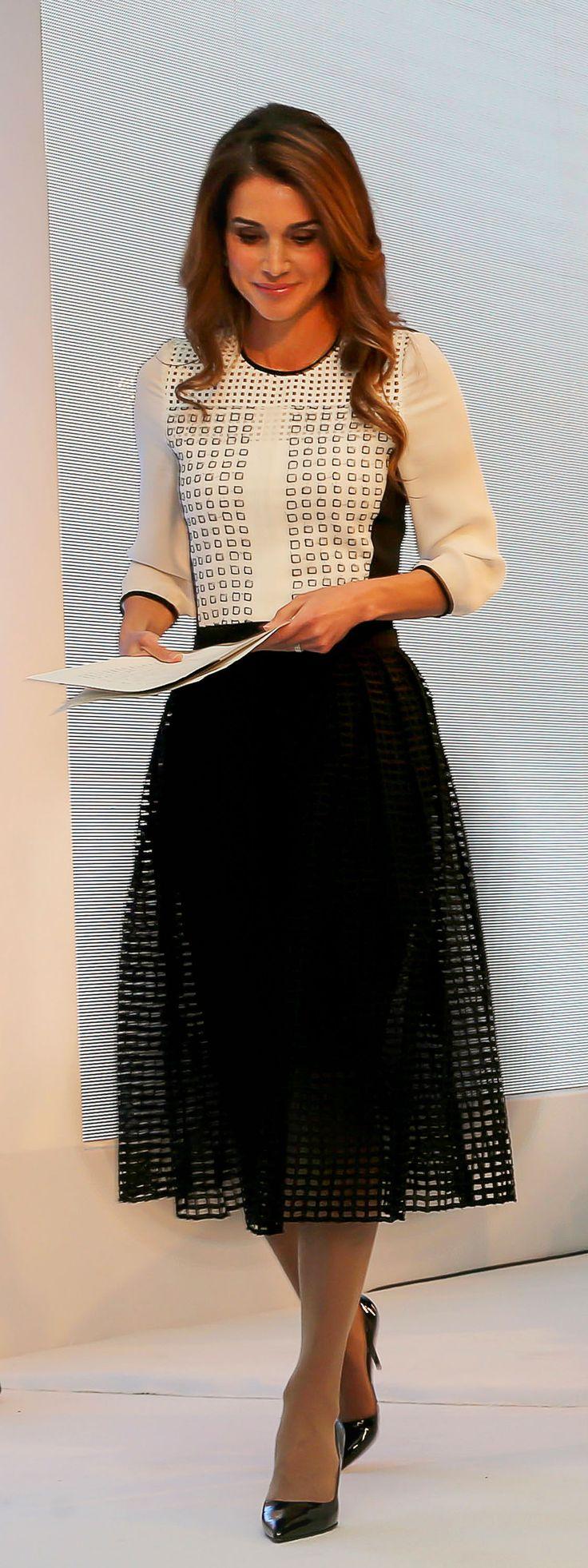 -Queen Rania of Jordan.