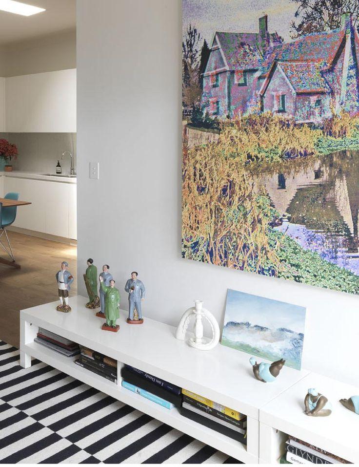 STEEPLE APARTMENT | alwill  #artwork #interiors #livingroom #kitchen #woodenfloor