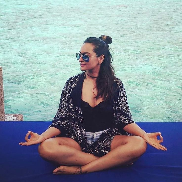 Hot Sonakshi Sinha doing yoga