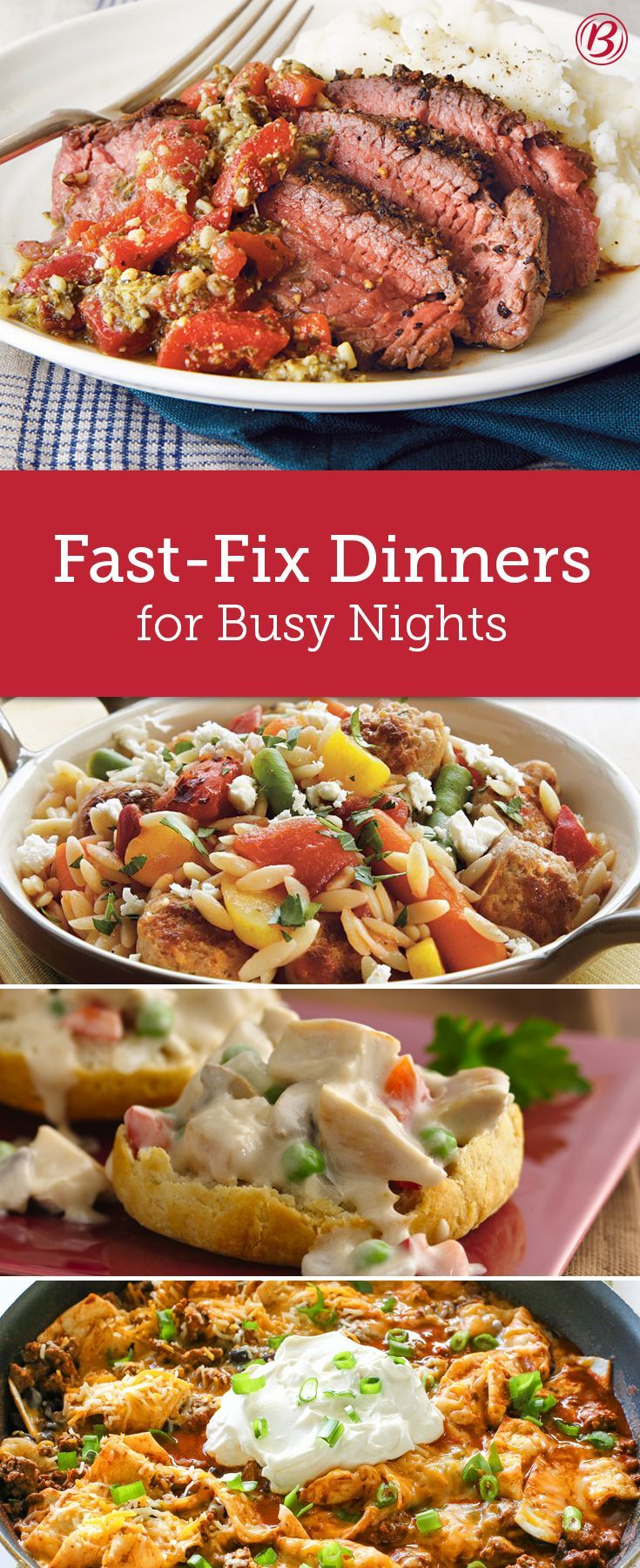 Busy schedules don't have to mean dull dinners (or takeout)! Save the money and silence the groans with one of these stellar weeknight meal ideas.