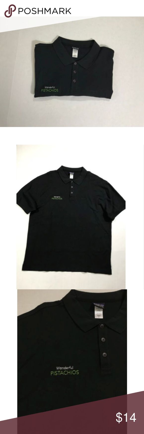 Patagonia Wonderful Pistachios Polo Shirt Men's XL Patagonia Wonderful Pistachios Polo Shirt Men's XL Black  Pre-owned, Good condition   Please see pictures for full details   Ships fast and safe patagonia Shirts Polos