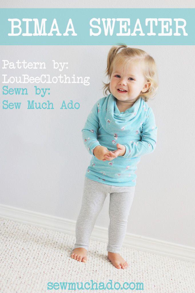 Girl's sweater pattern - Bimaa Sweater sewn by Sew Much Ado